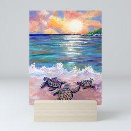 Baby Sea Turtles Mini Art Print