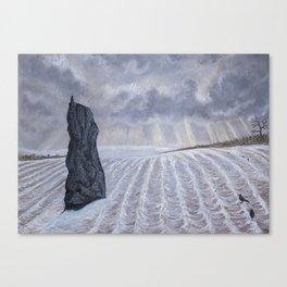 Frozen Field Megalith Canvas Print