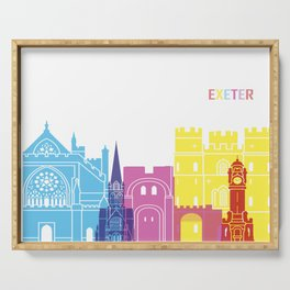 Exeter skyline pop Serving Tray