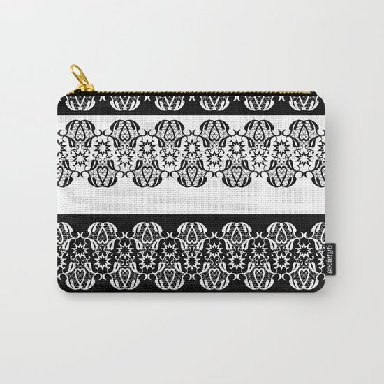 Black and white lace pattern . Carry-All Pouch