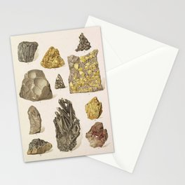 Vintage Gold Minerals Stationery Cards
