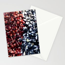 Red and black corn Stationery Cards