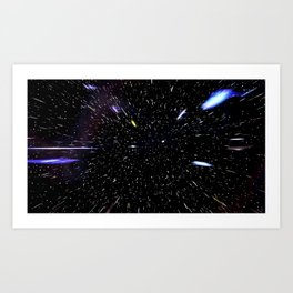 Warp Speed Art Print