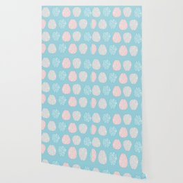 Pastel Brains Pattern Wallpaper