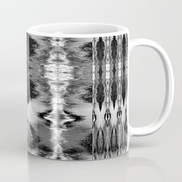 B&W Watercolor Ikat Coffee Mug
