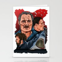 jaws Stationery Cards featuring JAWS by David Amblard