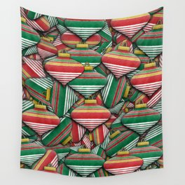 Ornament Pile - Christmas Design Wall Tapestry