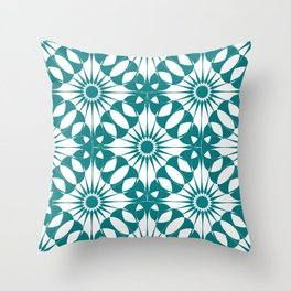 Spanish Tile - Blossom Throw Pillow