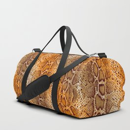 snake skin with bright ombre Duffle Bag