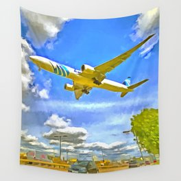 Airliner Pop Art Wall Tapestry