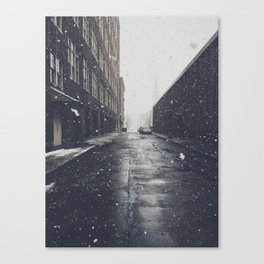 Snow in the City Canvas Print