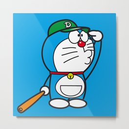 Doraemon baseball Metal Print