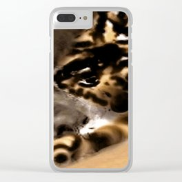 Fault in the mist Clear iPhone Case