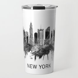 New York City Skyline BW Travel Mug