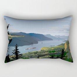The Columbia River Gorge Rectangular Pillow