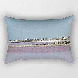 Rosy Red Salt Lakes Rectangular Pillow