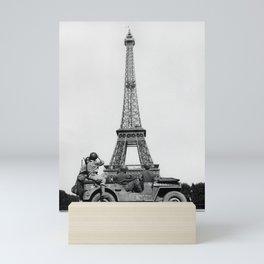 US Soldiers Viewing Eiffel Tower - Paris Liberation - 1944 Mini Art Print
