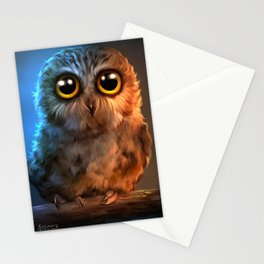 poor owl Stationery Cards