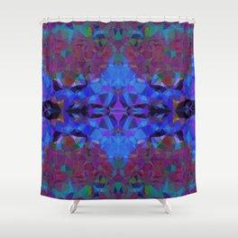 Cobalt Hex Shower Curtain