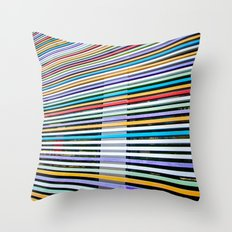 Colored Lines On The Wall Throw Pillow