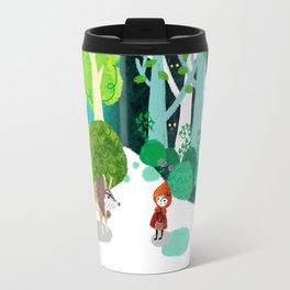 Red Riding Hood and The Wolf Travel Mug