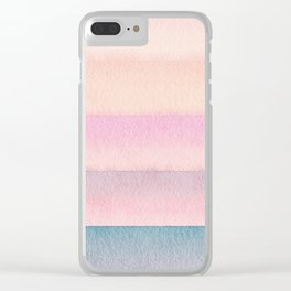 Fresh Striping Clear iPhone Case