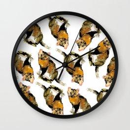 Martes zibellina watercolor (c) 2017 Wall Clock