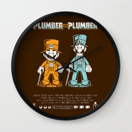Plumber and Plumber Wall Clock