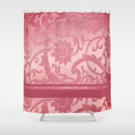FLORAL SHADOW TAPESTRY | pink Shower Curtain