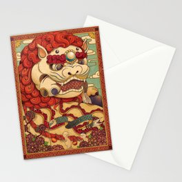 Chinese Lion Stationery Cards