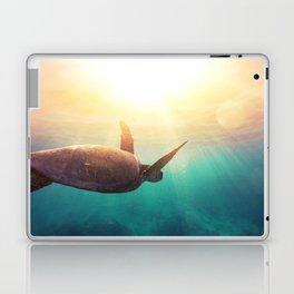Sea Turtle - Underwater Nature Photography Laptop & iPad Skin