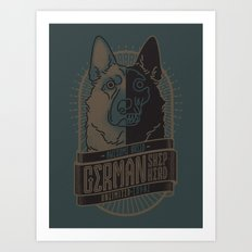 Awesome Breed : GERMAN SHEPHERD Art Print