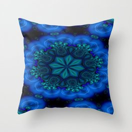 Battling At The Chasm Mandala 6 Throw Pillow