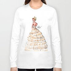 Fashion Watercolor Couture Gown Long Sleeve T-shirt