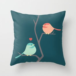 Lovebirds Three Throw Pillow