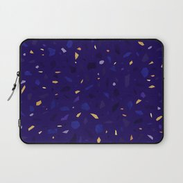 Blue Terrazzo Pattern Laptop Sleeve