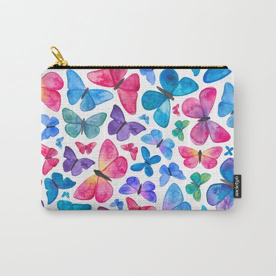 Watercolour Butterflies Carry-All Pouch