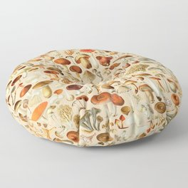 Vintage Mushroom Designs Collection Floor Pillow
