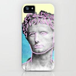 Aesthetic 90's Retro Vaporwave Augustus statue iPhone Case