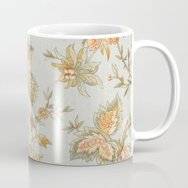 Blue Orange Flower Leaf Coffee Mug
