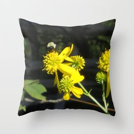 Pollen for my Queen Throw Pillow