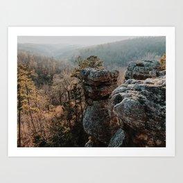 Pedestal Rocks Art Print
