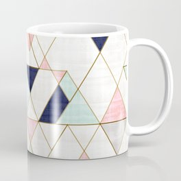 Mod Triangles - Navy Blush Mint Coffee Mug