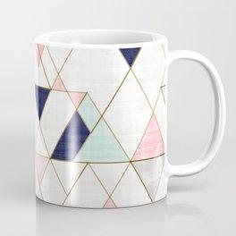 Mod Triangles - Navy Blush Mint Kaffeebecher