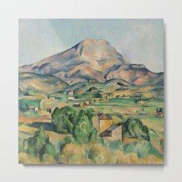 Paul Cezanne Mont Sainte-Victoire (La Montagne Sainte-Victoire) 1892-1895 Metal Print