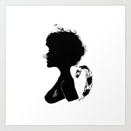 Birdie Silhouette Art Print