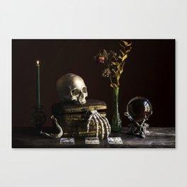 Vanitas, Memento Mori, Macabre Halloween Photo Canvas Print