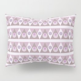 Geometric background pink pattern - circles, triangles, vector. Pillow Sham