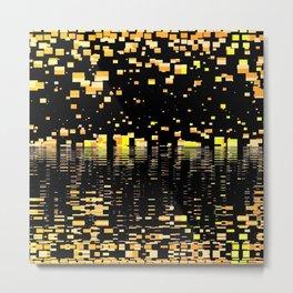 strange universe abstract digital geometric painting Metal Print