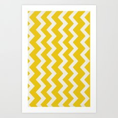 Crazy for Chevron - Mustard Art Print